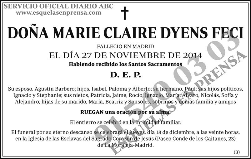 Marie Claire Dyens Feci